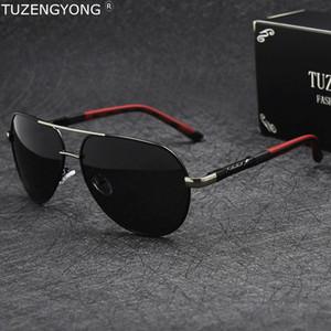 Accessori Occhiali da sole polarizzati Classic Marca guida Occhiali da sole Coating Lens uomo alluminio TUZENGYONG Uomo Oculos