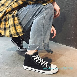 La bota del tobillo del invierno zapatos de lona color sólido amante de calzado 40% de Primavera Ulzzang zapatillas unisex Zapatos tablero ocasional de las mujeres zapatillas de deporte del patín s06
