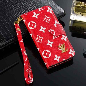 Pour IPhone Cases 11 Pro X XS MAX 8 7 6 6s Plus Wallet Flip Phone Case PU cuir affaire pour Samsung S9 S10 plus S20 Ultra S10e Note 9 10