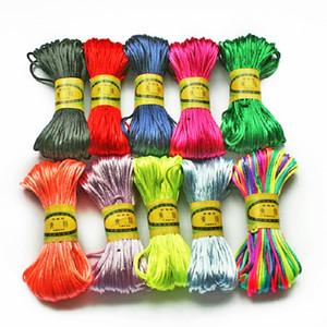 20Meters (2MM) Soft Satin Rattail Silk Macrame Cord Nylon Kumihimo Shamballa For DIY Chinese Knot Tool Hand Stitching Threads