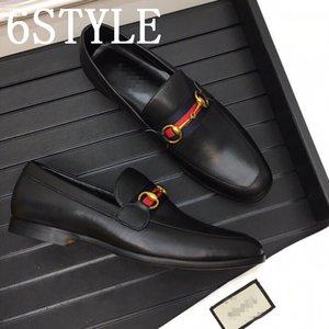 19FS 2020 Men leather shoes business dress suit shoes men luxurious Bullock genuine leather black slipon tassel wedding mens shoes US6-11