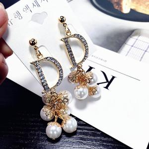 Femmes D lettre S925 Argent chaîne pendentif gland gland
