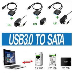 USB3. 0 до 2.5 3.5 IDE SATA жесткий диск HDD SDD конвертер адаптер PC кабель EU Plug