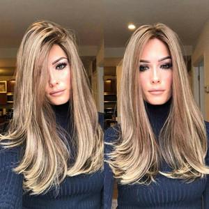 Kadın Gradyan Sarışın Kahverengi Kıvırcık Peruk Sentetik Dalgalı Saç Isıya Dayanıklı Peruk UK