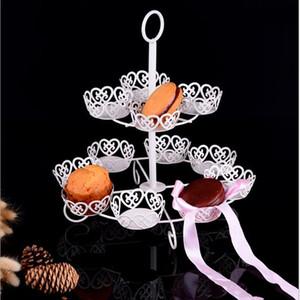 12 copos brancos Cup Cake stand Muffin Cupcake stand de casamento bolo de casamento de exibição