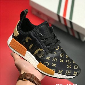 Supreme x Louis Vuitton x adidas NMD R1 2020 nuova Popcorn in esecuzione scarpe casual all'aperto rilasciato congiuntamente dagli ultimi modelli di esplosione nel 2020