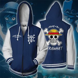 Anime ONE PIECE Luffy 3D Stampa Felpe Felpe Cappotto Casual Cappotto Cosplay