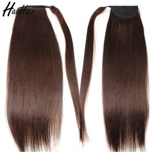 Best seller 9A Brazilian virgin pony tail silky straigh human hair for woman 2# color