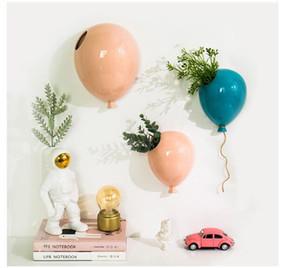 세라믹 풍선 벽 교수형 세라믹 풍선 벽에 크리 에이 티브 꽃병 유치원에 매달려 교수형 어린이 방 장식