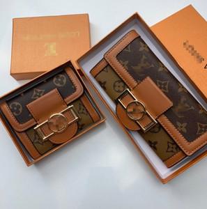 مصمم للجنسين الأعمال محافظ النساء الفاخرة حقيبة يد رجل الرسمية المحفظة أزياء كلاسيكية أسود محفظة لويس فويتون عادي محفظة مع صندوق