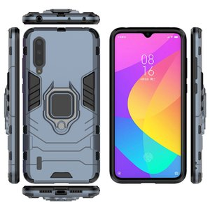 Armor Car Holder Magnet Ring Phone Case Silicone Cover On For Xiaomi Mi A3 A2 Lite MiA2 MiA3 A2Lite Global A 2 3 32 64 GB Light