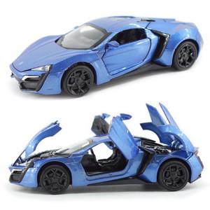 Modelos de aleación de metal Lykan Hypersport Tire Sports Car Collection Volver Brinquedos para niños Juguetes para niños regalo de los niños del juguete Funde J190525