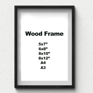 Nature Solid Simple Wooden Frame A3 Black Wood Frame With Mats For Wall Mounting Hardware Included Frames