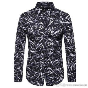 Digital Print Designer Mens Shirts Fashion feuilles de bambou IMPRIMEE boutonnage Hommes Chemises simples hommes Vêtements