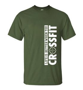 La vida es mejor cuando cruzas la camiseta 2019 Verano Nuevos hombres de la moda 100% algodón Camiseta cómoda del entrenamiento suelta camisetas superiores