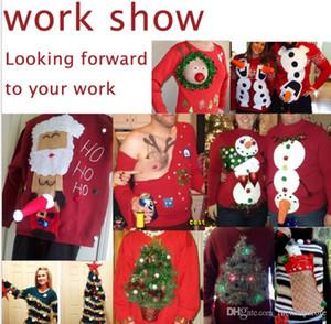Mens Christmas Customized Tshirts Xmas Gift Printed Red Long Sleeved Tops Designer Gift