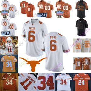Texas Longhorns Football Jersey NCAA College Jake Smith Colt McCoy Earl Campbell Connor Williams Earl Thomas Brian Orakpo Goodwin Huff