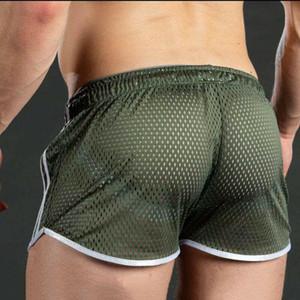 Erkekler Spor Vücut Geliştirme Şort Man Yaz Spor Salonları Egzersiz Erkek Nefes Mesh Hızlı Kuru Spor Jogger Plaj Kısa Pantolon