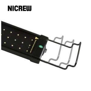 NICREW Выдвижная светодиодная подсветка для аквариума Кронштейн из нержавеющей стали Регулируемые монтажные ножки