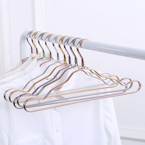 Dhl Space aluminum hanger aluminum allioise no trace clothing support household anti-skid clothes hanging wind-proof clothes rack