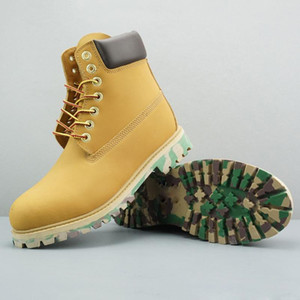 Zapatos Bota de caña de lujo Venta-Boots Brown Ejército Negro caliente Desierto Verde botas militares Triple Blanco Negro Camo manera de las mujeres
