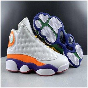 13s jumpman zapatos de baloncesto de los hombres de 13 GS Patio Blanco Amarillo Verde Mandarina Duck las zapatillas de deporte de diseño Hombres Mujeres Deportes