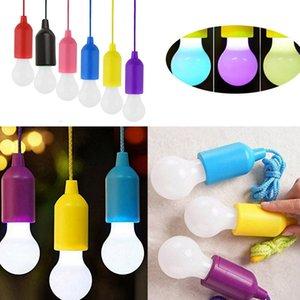 Criativa Hanging Lamp LED portátil Pull Cord luz Bulb Outdoor Jardim Camping lanterna a pilhas colorido LED Night Light