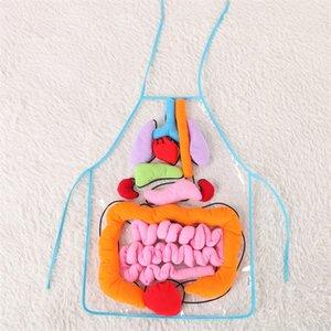 Детские ранние образования без рукавов камзол фартуки прозрачный популярный фартук синий цвет с оранжево-красный синий цвет портативный 42ws J1