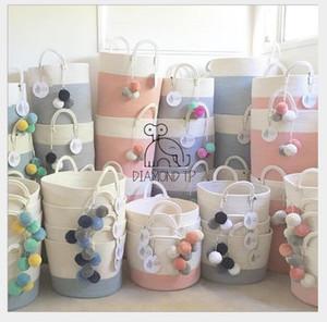 Cestas de tejer y recibir Canasta de juguete para artículos del hogar Canasta de ropa Bolsa de recepción Caja de recepción de juguetes para niños