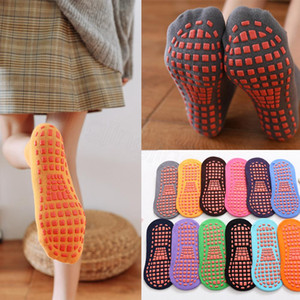 Silicone non-slip socks bottom indoor children's early education yoga trampoline socks home floor sports baby sock for 1-4years FFA3607