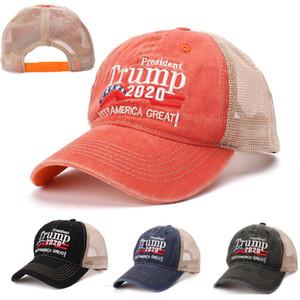 Make America Trump 2020 Cappellini President Cappelli Net New Baseball Ball Cap Rivet Diamond Bling Sport Viaggi Beach Sun Hat Cappelli per feste WX9-1436