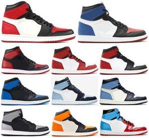 2020 Yeni 1 Yüksek OG Bred Burun Chicago Yasaklı Korkusuz Kraliyet Basketbol Ayakkabı oğlan İlk 3 Shattered Arkalık Gölge Obsidian Sneakers 1s