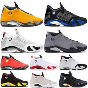 Hochwertige Reverse Ferr Yellow 14 SPM x Royal-Blue White Herren Basketballschuhe JODE 14s Candy Cane Red Wildleder Trainer Größe uns 7-13