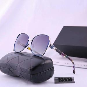 Óculos de sol das mulheres Óculos de Sol Praia Adumbral Óculos UV400 2391 5 cores Altamente qualidade com Box