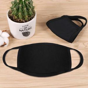 cara diseñador de la máscara anti-polvo boca de algodón mascarilla de máscaras protectoras Negro mascarilla Hombre Mujer Llevaba Negro Negro Moda