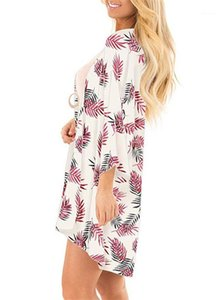Mantel Prevent Bask Kleidung-Sommer-Strand-Chiffon- Sunscreen Bluse floar Printed Langarm Cape Women Fashion