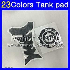 Fibra del carbón 3D del cojín del tanque para YAMAHA YZFR6S 06 07 08 09 YZFR6S YZF600 YZF R6S 2006 2007 2008 2009 calcomanías etiqueta engomada MY73 Gas Tapa del tanque Protector