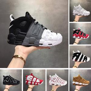 2019 Air More Uptempo Uomo Scarpe da pallacanestro Scottie Pippen Chicago Rosso Nero Bianco Donna Scarpe sportive Scarpe da ginnastica da uomo Sneakers Deisgner Taglia 13