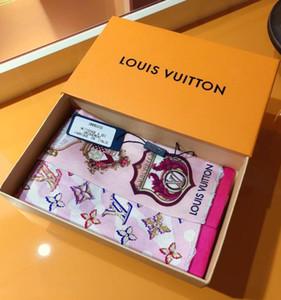 Nuevo estilo de seda de la marca 8 * 120cm flor de alta calidad pequeña diadema rectangular para mejores accesorios cinta pajarita regalo bufanda ninguna caja