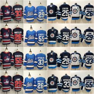 2019 Heritage Classic Winnipeg Jets Hockey Jersey 29 Patrik Laine Blake Wheeler Dustin Beynien Mark Scheifele Kyle Connor Hellebuyck Blue