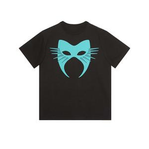 Herren-Stylist-T-Shirt Männer Frauen Maske Sommer-T-Shirt Hip Hop Schwarz Weiß Short Sleeve S-2XL