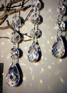 Nuevo diseño 10Cm Garland Strands Crystal Acrylic Cortina Cuentas, Suministros de decoración de Navidad, Decoración de árbol de Navidad al aire libre