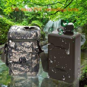 2L escursionismo Grande capacità mensa militare termica Esterni Durable Wear portatile bottiglia PVC Camping Sport Water Resistant