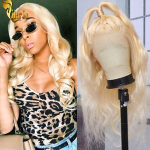 Glueless Brazilian 613 Blonde Body Wave Lace Front Wigs Full Lace Human Hair Wig 130%~150% Density 8~20Inch With Baby Hair For Black Women