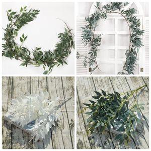 Plantas Artificial Willow folha folhas Simulação Rattan Início partido plástico Fundo Do Casamento H19 Decoração Hot Sale 10rz