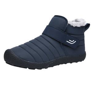 Homens neve Botas Lager Tamanho Quente antiderrapantes Algodão botas de inverno Caminhadas algodão Shoes