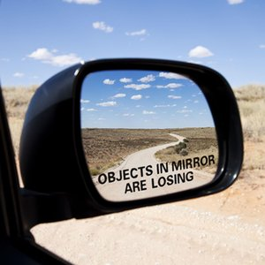 Hot Sale LEEPEE OBJECTS IN MIRROR ARE LOSING Pattern 1 Pair Car Sticker Car Styling Warning Stickers Decals Rear View Mirror