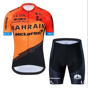 Новая BAHRAIN McLaren команды летом езда костюм с короткими рукавами рубашки шорты дороги задействуя костюм костюм