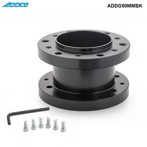 ADDCO Neue Auto Styling Aluminiumlegierung 50mm Höhe Auto Lenkradnabe Verlängerungsadapter Distanzscheibe ADDG50MMBK