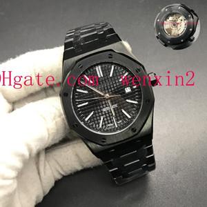 1 cores de luxo relógio homens 2813 máquinas automáticas relógios 42mm de aço inoxidável tampa inferior transparente com cinta preta luminosa relógio de pulso